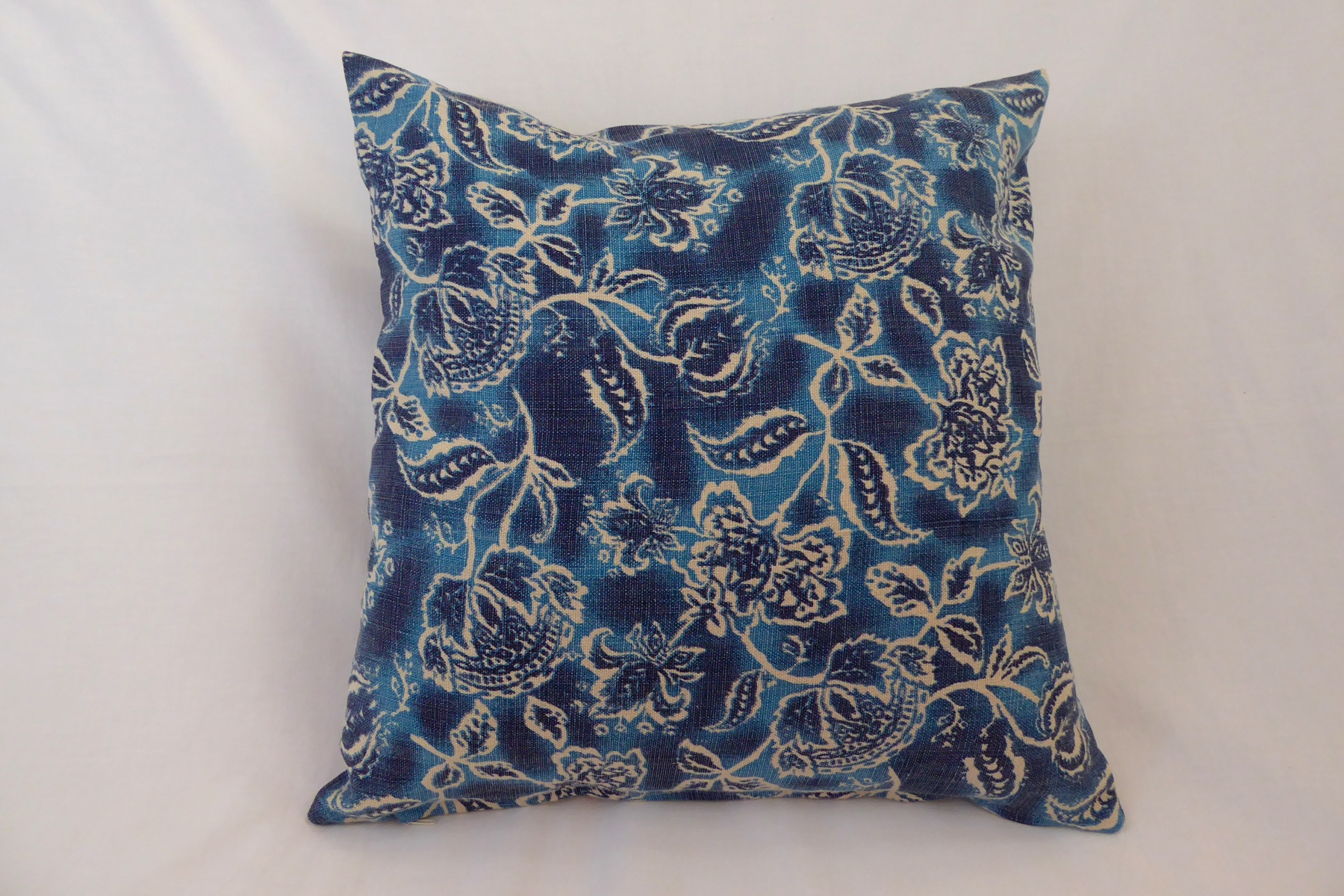 Leinenkissen Floral Blau